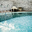 Ladder in the pool — Stock Photo