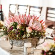Detailed silver centerpiece — Stock Photo