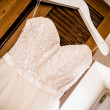 Angled wedding dress — Stock Photo