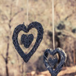 Hanging hearts — Stock fotografie