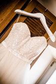 Angled wedding dress — Stock Photo