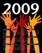 Uroczystość wektor kalendarz na rok 2009. — Wektor stockowy