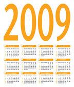 Simple 2009 vector calendar. — Stock Vector