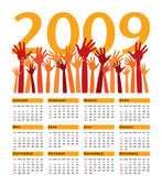 Jasny kwiat kalendarz na rok 2009. — Wektor stockowy