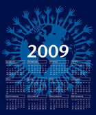 Of the world 2009 vector calendar. — Vecteur