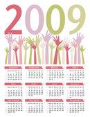 Jasny kalendarz 2009 wektor. — Wektor stockowy