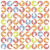 Hand circles design. — Stock Vector