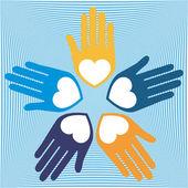 Loving hands design vector — Stock Vector