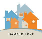 房子或房地产图. — 图库矢量图片