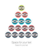 Striking eye pyramid design. — Stock Vector