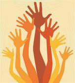 幸せな手をデザインします。. — ストックベクタ