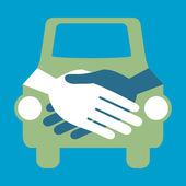 Car handshake design. — Stock Vector