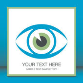 Striking eye design with copy space. — Stock Vector