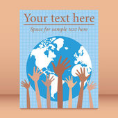 Of the world leaflet or flier design. — Stock Vector