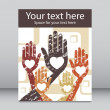 Stock Vector: Loving hands leaflet design.