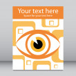 Stock Vector: Striking eye leaflet design.