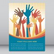 Large group of colorful hands vector. — Stock Vector #26659505