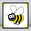 Stock Vector: Bumble bee design.