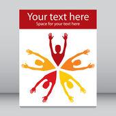 Colorful leaflet design. — Stock Vector