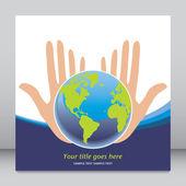 Jordens framtid i våra händer vektor. — Stockvektor