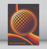 Colorful globe design vector. — Stock Vector
