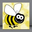 Stock Vector: Fun bumble bee vector.