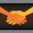Stock Vector: Handshake symmetry.