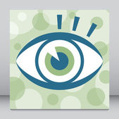 Striking eye design. — Stock Vector