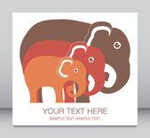 大象家庭单位. — 图库矢量图片