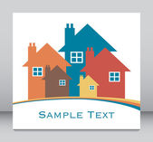 House or real estate illustration. — Stock Vector