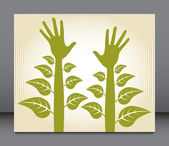 Plant hands design. — Stock Vector