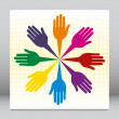 Helpful circle of hands vector. — Stock Vector