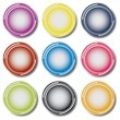 Set of nine colorful web buttons vector. — Stock Vector