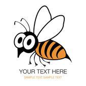 ショックを受けて面白いハチやハチのベクトル. — ストックベクタ
