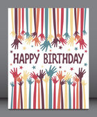Happy birthday hands design. — Stock Vector