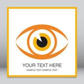 Striking eye design. — Stock Vector
