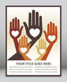 Happy loving hands — Stock Vector