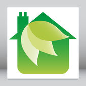 Eko vänliga house design. — Stockvektor
