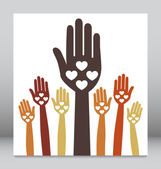 Happy hands design — Stock Vector