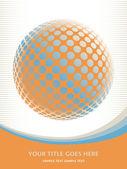 Färgglada digital globe design — Stockvektor