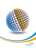 Colorful digital globe design. — Stock Vector