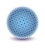 Projeto globo digital colorida. — Vetor de Stock