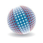 Patriotic star globe design vector. — Stock Vector