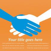 Handshake symmetry with copy space. — Stock Vector