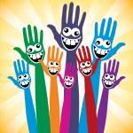 Crazy face hands design. — Stock Vector #26871247