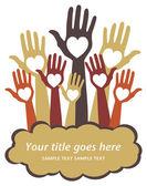 Loving hands leaflet design. — Vector de stock