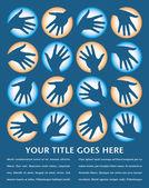 Hand cirkel design med kopia utrymme. — Stockvektor