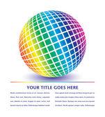 Colorful globe design — Stock Vector