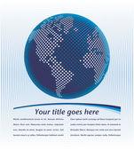 Mappa del mondo digitale — Vettoriale Stock