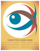 Striking eye illustration. — Stock Vector